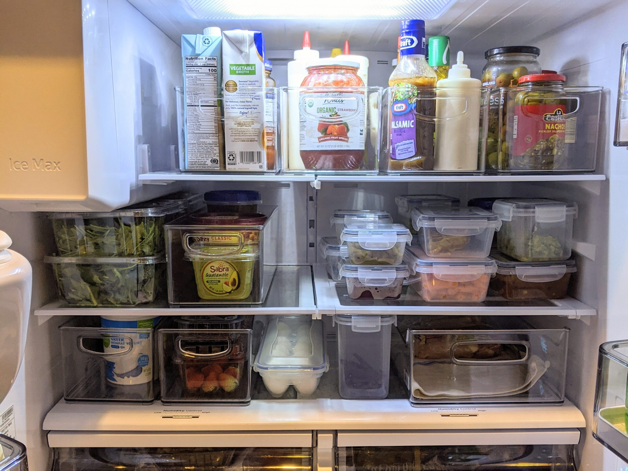 Picture after organizing a fridge
